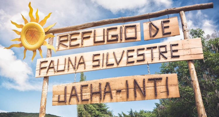 Precioso cartel de entrada al Refugio